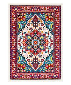 Love this Multicolor Persian Elenor Rug on #zulily! #zulilyfinds