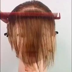 Hair Cutting Videos, Hair Cutting Techniques, Hair Color Techniques, Easy Hairstyles For Long Hair, Hairstyles With Bangs, Diy Hairstyles, Bangs Hairstyle, Hair Up Styles, Medium Hair Styles