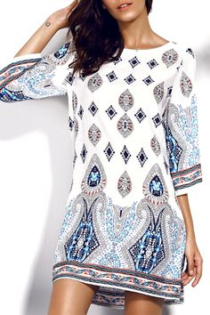 2017 Print New Women Summer Dress Casual Short Bohemian Dresses Backless Sexy Beach Vestidos Vintage Mujer de Festa Femme Robe Look Fashion, Fashion Outfits, Womens Fashion, Fashion Clothes, Fashion Site, Gq Fashion, Fashion Deals, Casual Outfits, Cute Outfits