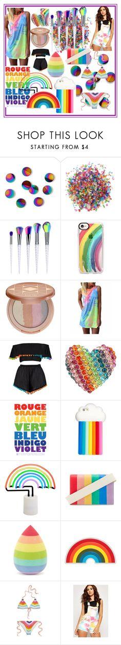 """Rainbow"" by alayjane ❤ liked on Polyvore featuring Umbra, Dress My Cupcake, Casetify, tarte, Boohoo, Betsey Johnson, STELLA McCARTNEY, Sunnylife, Alice + Olivia and Forever 21"