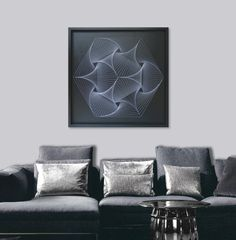 Large Zen Wall Art in Black & White Custom UV by FeniksArtDeco