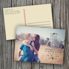 Photo Save the Date Postcard - Printable, Custom - DIY on Etsy, $13.94 CAD