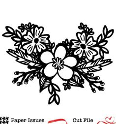 Tropical Floral Swag Free Cut File