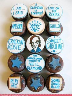 A baked tribute to Neil Diamond.....my Professor would love this!!!!! She's one die hard Neil fan.