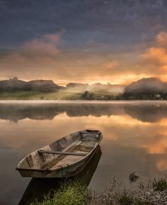 Lonely boat by Peter Zajfrid on 500px