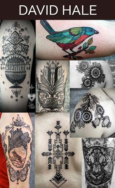 David Hale in Athens, Georgia / The 13 Coolest Tattoo Artists In The World (via BuzzFeed)