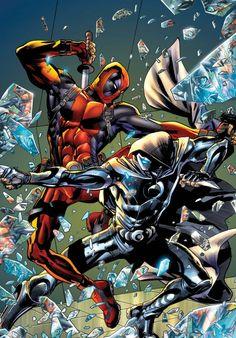 Deadpool vs. Moon Knight by Bryan Hitch