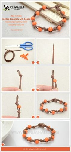 How to Make Knotted Bead Bracelets with Suede ...   Jewelry Making Tu�� by wanting
