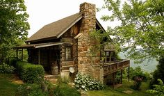 This cabin was built in the early 1800's. It was brought it piece by piece to Lookout Mountain in north Georgia.