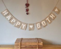 A personal favourite from my Etsy shop https://www.etsy.com/uk/listing/235738794/60th-birthday-bunting-banner-vintage