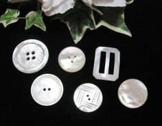 Mother of Pearl Buttons @ Vintage Touch $8.00