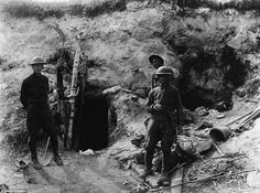 WW1. Diggers outside a tunnel                                                                                                                                                                                 More