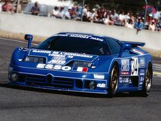 1994 .. Le Mans , entered by Michel Hommell , Bugatti EB110 SS , driven by Cudini / Helary / Boullion , DNF>accident .