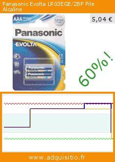 Panasonic Evolta LR03EGE/2BP Pile Alcaline (Accessoire). Réduction de 60%! Prix actuel 5,04 €, l'ancien prix était de 12,65 €. https://www.adquisitio.fr/panasonic/evolta-lr03ege2bp-pile