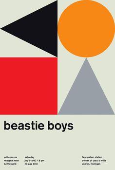 The Beastie Boys, A Limited Edition Design Print Modern Prints, Fine Art Prints, Mike Joyce, Peter Saville, Vintage Pop Art, Beastie Boys, Graphic Design Print, Album Design, Print Magazine