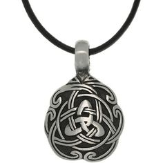 Carolina Glamour Collection Pewter Unisex Celtic Unity Necklace ($12) ❤ liked on Polyvore featuring men's fashion, men's jewelry, men's necklaces, grey, mens pendant necklace, mens leather cord necklace, mens celtic cross necklace and mens celtic knot necklace
