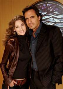 Kendall and Zach, Alicia Minshew and Thorsten Kaye, AMC. Soap Opera Stars, Soap Stars, Tv Soap, Bold And The Beautiful, Cute Couples, Power Couples, Geek Girls, Sweet Memories, Best Couple