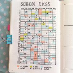 """@10_twenty_six) auf Instagram: """"I saw @ajthejournaljunkie post a school schedule, & I immediately made one too. . . #bujo…"""""""