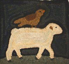 Star Rug Company - Primitive lamb rug