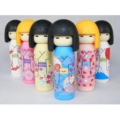 Iwako Japanese Erasers Kokeshi Dolls