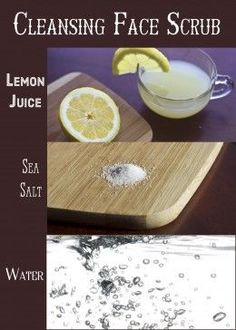 Use lemon and sea salt to exfoliate and dissolve blackheads on the nose, cheeks, and other areas.