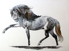 """""""Let your dreams show you the way"""" Acrylics on canvas. Horse art, Laura Usero.  Facebook page: https://www.facebook.com/pages/Laura-Usero-Equine-Art/790088714417977"""