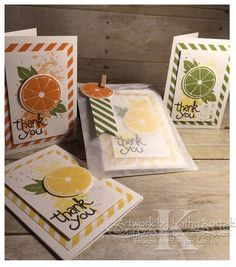 """Apple of My Eye Gift Set was designed by Lynn Birus and uses Stampin' Up's """"Apple of My Eye"""" and """"Gorgeous Grunge"""" stamp sets.  (Pin#1: Thank You. Pin+: Munchies)."""