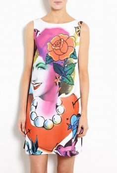 Carmen Print Shift Dress by Moschino Cheap