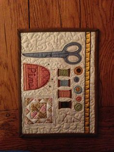 Placemat - Mug Rug / Quilted Sewing Room