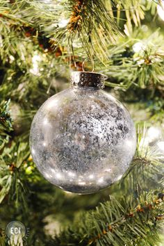 How to make mercury glass ornaments on a dime hometalk fall mercury glass ornament metallic look on the opposite side spray thin coat outside ornament add epsom salt insidespay w looking glass on inside solutioingenieria Gallery