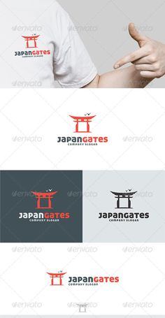 Japan Gates Logo — Vector EPS #gate #clan • Available here → https://graphicriver.net/item/japan-gates-logo/5417468?ref=pxcr