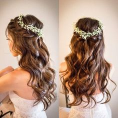 Oval Face Hairstyles, Bride Hairstyles, Pretty Hairstyles, Short Wavy Hair, Short Hair Styles, Makeup Eye Looks, Hair Arrange, Oval Faces, Wedding Beauty