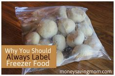 Why you should always label the food you freeze