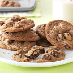 Coffeehouse Caramel-Dark Chocolate-Latte Cookie Recipe -These taste like my favorite coffee house drink in cookie form. They're crispy outside, but soft in the middle. —Angela Spengler, Mechanicsburg, Pennsylvania