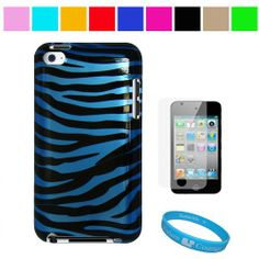 Durable Blue Zebra Two Piece Front and Back Protective Hard Shell Crystal Cover Case for Apple iPod Touch 4th Generation + Clear Screen Protector for Apple iPod Touch 4th Generation , Blue Zebra SumacLife,http://www.amazon.com/dp/B004BH6CAU/ref=cm_sw_r_pi_dp_ISK-sb0M416KAGYC