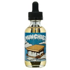 Munchies 60ml E Liquid, High VG, 70Vg, Graham Craker, Chocolate, Peanut Butter, Smores #vape #eliquid #ejuice https://www.vapeways.com