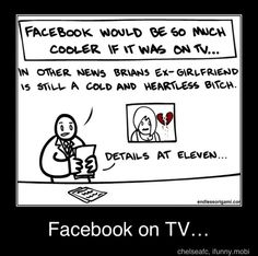 Now, I will have to read statuses in a newscaster's voice. LOL