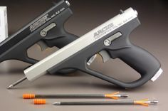 Arcus Arrowstar CO2 arrow gun  400 Euros.  http://www.waffen-outdoor-shop.com/product_info.php/products_id/200?osCsid=7b2a5134b8e4aa93d1d8f357d0c9f457