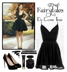 """""""Get The Look - Little Black Dress"""" by whims-and-craze ❤ liked on Polyvore featuring WALL, GUESS, Elie Saab, Yves Saint Laurent, GetTheLook, black, LittleBlackDress, LBD and blackdress"""