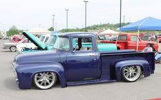 1956 Ford F100 Bagged Trucks, Old Ford Trucks, Hot Rod Trucks, Cool Trucks, Cool Cars, 1956 Ford Truck, F100 Truck, Vintage Pickup Trucks, Classic Ford Trucks