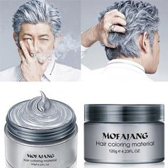 Natural, Temporary Hair Wax in Arctic Silver Love the trendy look of silvery grey, but don't want the commitment? Our unique formula combines natural beeswax and palm oil with high quality pigments to create a pomade wax that sits on top of the hair shaft and provides lustrous, shiny color. Ideal for any hair color, Arctic silver adds streaks or allover misty silver to the natural hair color. Use alone or combine with one of our colorful shades for a custom look. Using Hair Wax Apply to…