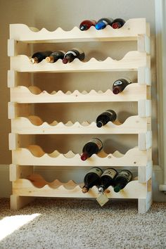 Sale 36 Bottle Wood Wine Rack Pine Modular by BenchDogStudio