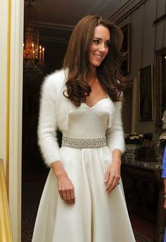 Kate Middleton shrug - Winter wedding
