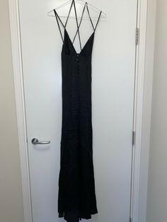 Agent Provocateur Long Black Silk Chemise Evening Night dress Black Tie Size 3 · $10.00 Agent Provocateur, Festool Sander, Uniform Dress, Size 14 Dresses, Tie, Black, Fashion, Dress Shirt, Moda