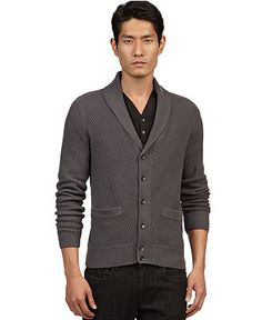 Kenneth Cole New York Sweater, Shawl Neck Cardigan - Mens Sweaters - Macy's