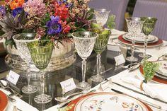 taça cristal colorido mesa jantar - Pesquisa Google
