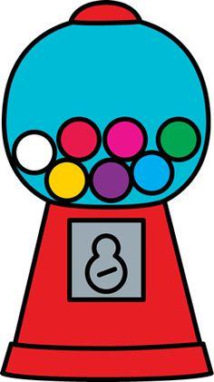cute clip art of a classic red gumball machine sweet clip art rh pinterest com bubble gum machine clipart free