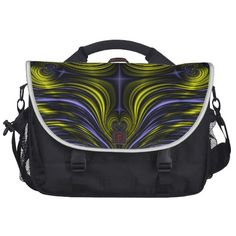 Northern Lights Aurora Borealis Fractal Laptop Commuter Bag.  $203.95