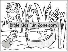 miriam and moses coloring page - childrens class vbs on pinterest baby moses baby