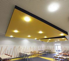 In Tempo agency Interior Design project. School canteen / Acoustic ceiling / 2014. By Lombard Claire